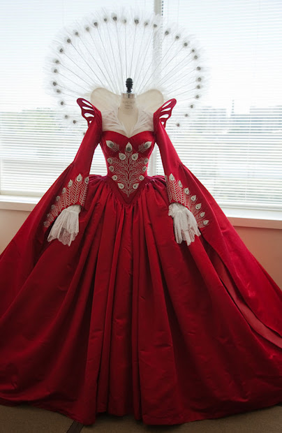 1000 Mirror Red Peacoc Dress