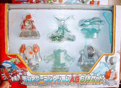 Groudon figure clear version Tomy Monster Collection AG 6 pcs figures set