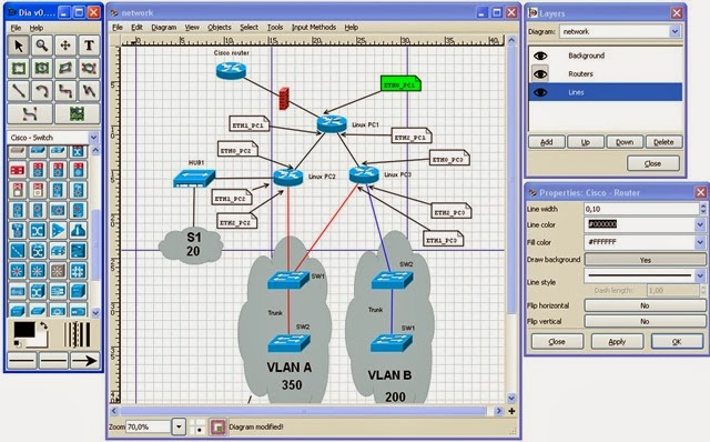 The Open Source School: Dia | Diagram editor