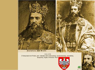 Kazimierz III Wielki, złoto, złoty, żółć, żółty