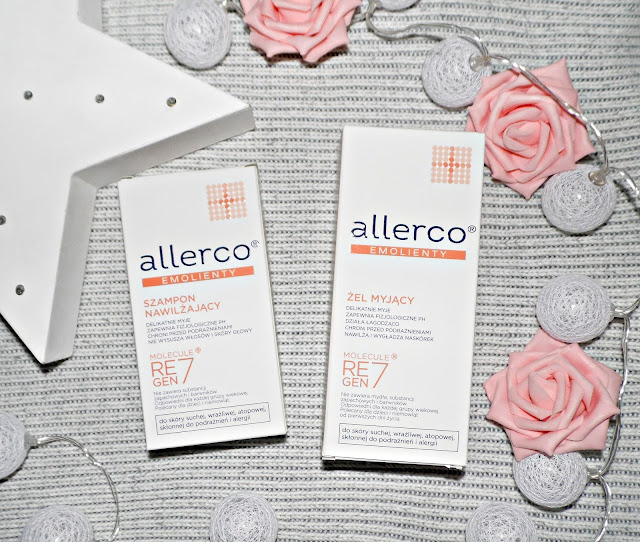 ALLERCO® - emolienty - szampon nawilżający i żel myjący dla osób niezwykle wrażliwych.