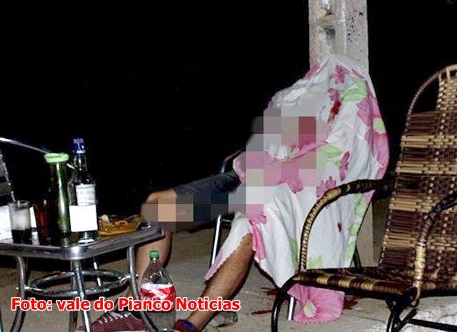 Dois homens são mortos e mulher fica ferida enquanto bebiam na calçada em Conceição PB