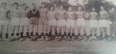 Equipo Fútbol Paña Rodrigo Binéfar años 1930