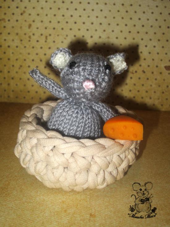 для фотосессии новорожденных, игрушка для фотосессии, маленькая вязаная мышка