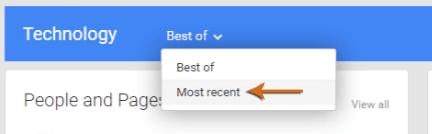 Google Plus Sorting Option