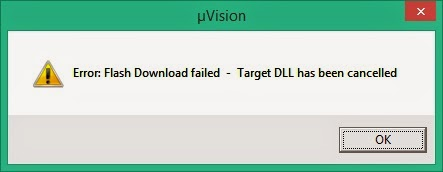 Error: Flash download failed – Target DLL has been cancelled