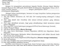 Contoh Surat Format Persyaratan (Lamaran, Surat Pernyataan, dan daftar Riwayat Hidup) RSUD Majalengka - Jawa Barat