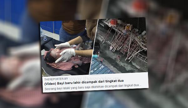 Bayi dicampak dari tingkat 2 meninggal dunia