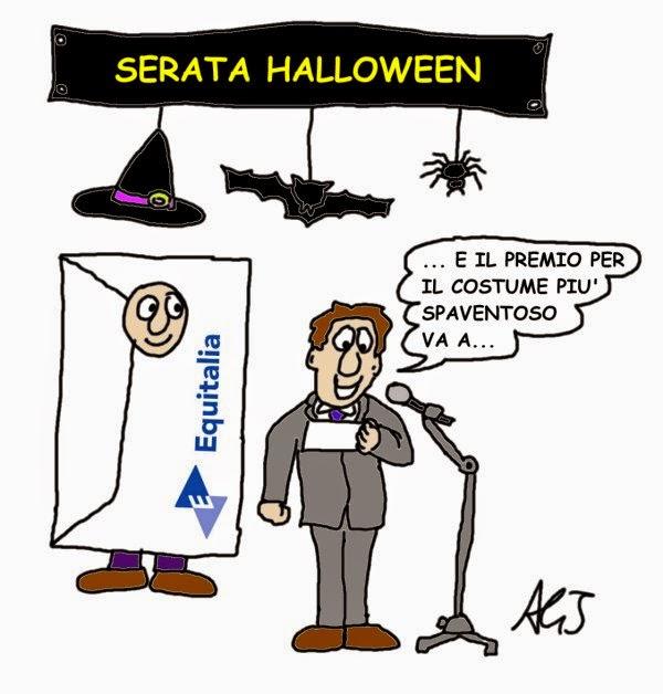 halloween, equitalia, tasse, satira, vignetta