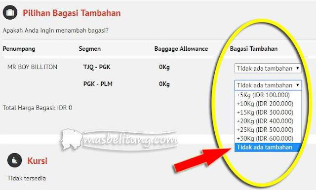 tarif bagasi terdaftar