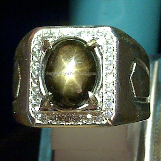 Cincin Batu Black Safir Star - ZP 864