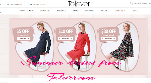 Summer dresses from Talever.com