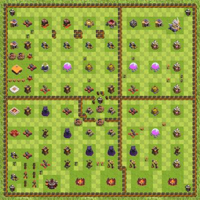 War Base Town Hall Level 11 By Josiel Oliveira Franco (6tg4tt4t TH 11 Layout)