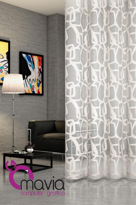 Arredamento di interni tende per interni moderne tessuti for Tende arredamento moderno