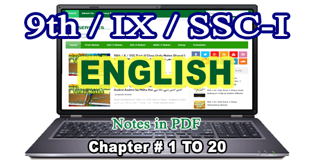 9th Class English Notes free download