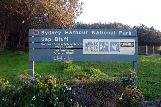 Sydney Harbour national park sign