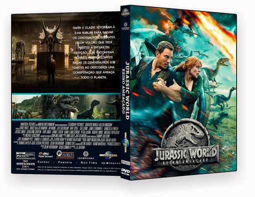 CAPA – Jurassic World Reino Ameaçado DVD-R AUTORADO