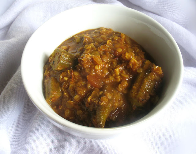 Ethiopian-Style Okra with Lentils