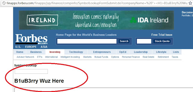 Forbes.com Vulnerable to XSS injection