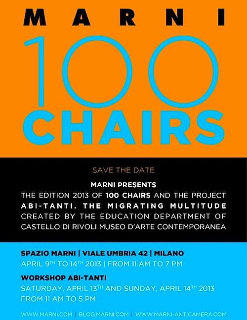 Milano Design Week - Marni 100 sedie e Abi-tanti