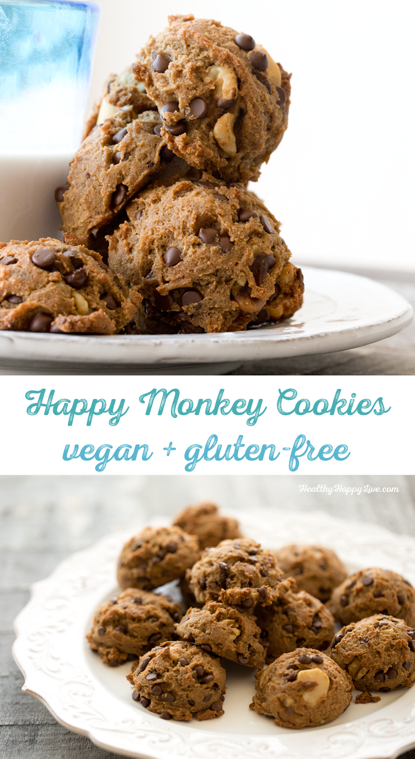 Happy Monkey Cookies, gluten free, vegan, soy free and amazing!