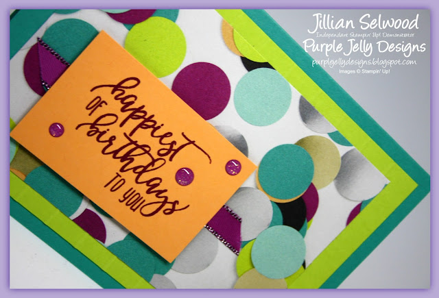 Picture Perfect Party Birthday Card, Bermuda Bay, Lemon Lime Twist, Peekaboo  Peach, Berry Burst