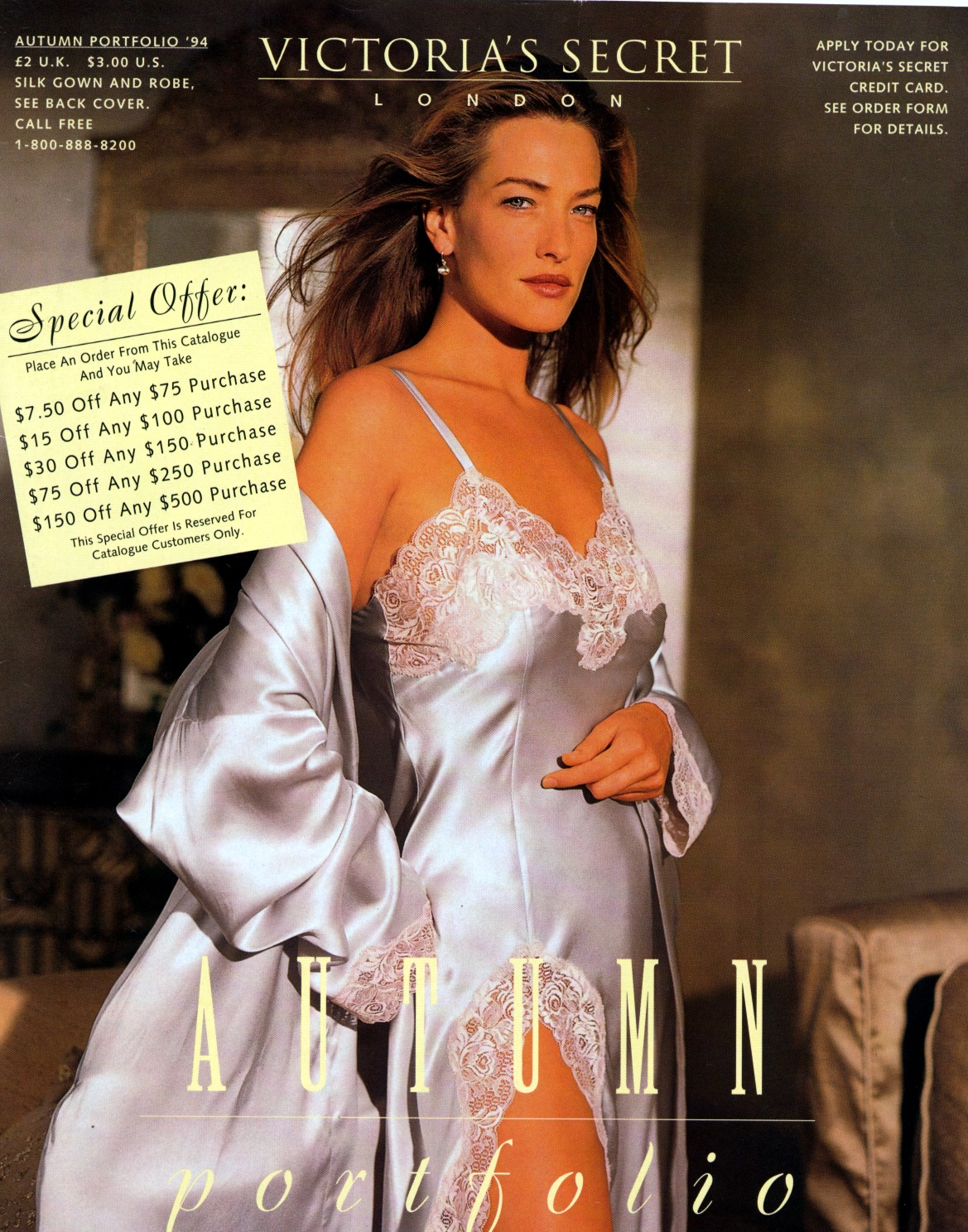 adc85f43d916a A beautiful nightgown and robe being modeled by Tatjana Patitz for the  catalog. Why they still can't sell clothing like this is beyond me.