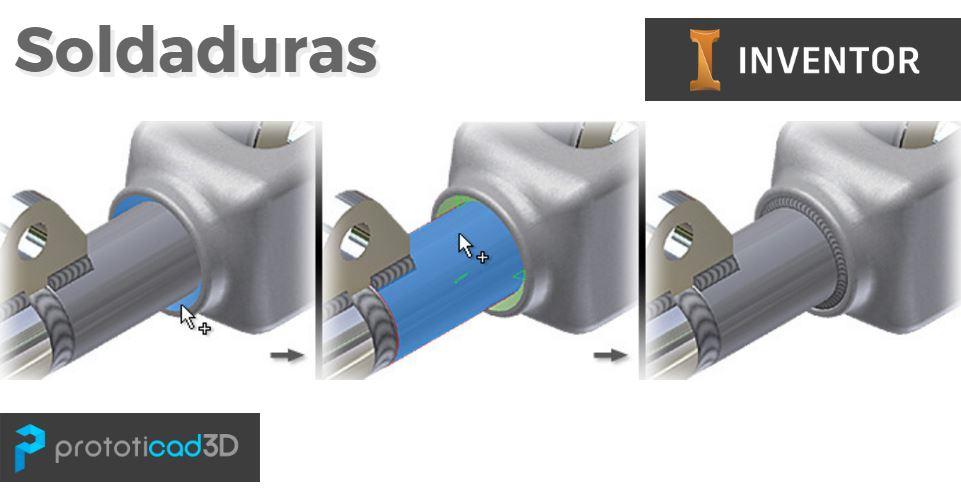 Cómo hacer soldaduras con Autodesk Inventor