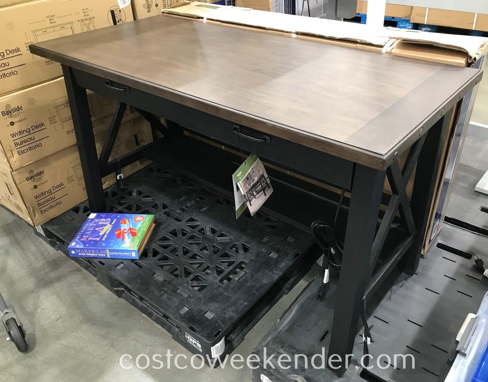 Bayside Furnishings by Whalen Writing Desk  Costco Weekender