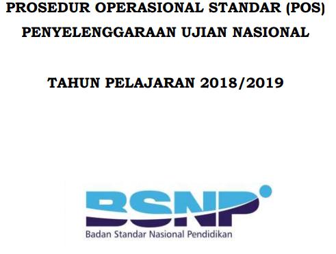 POS UN/USBN 2019 Dan Jadwal pelaksanaan UNBK/USBN 2019