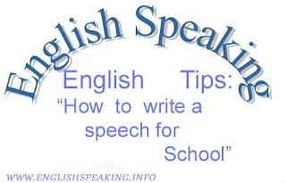 English tips: how to write a speech for School