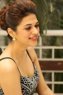 Shraddha Das Latest Pictures in Short Dress at tur Talkies Movie Release Press meet