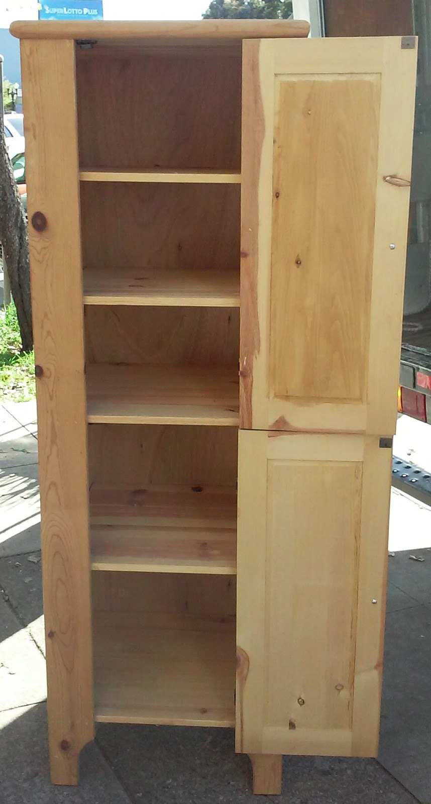Uhuru Furniture Collectibles Sold 2 39 X 5 1 2 39 Pine Pantry Cabinet 70