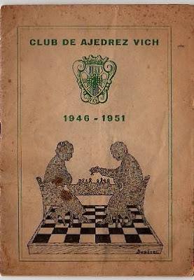 Portada del libro editado por el Club ajedrez Vic en su quinto aniversario
