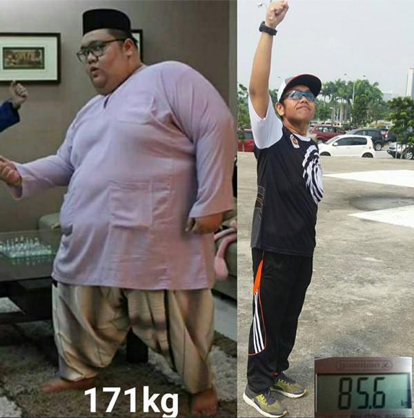 Kejayaan Lelaki Ini Berjaya Turun Berat Badan Memberi Inspirasi Kepada Orang Ramai..Ohsemm!