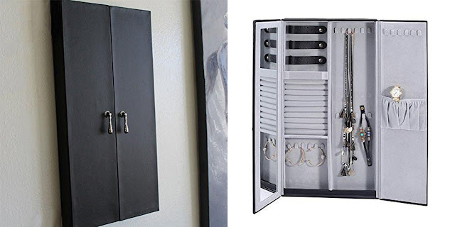 Shop Wholesale Wall Mounted Leatherette Jewelry Cabinet Organizer