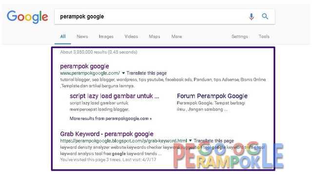 cara cepat mendapatkan sitelink di hasil pencarian google