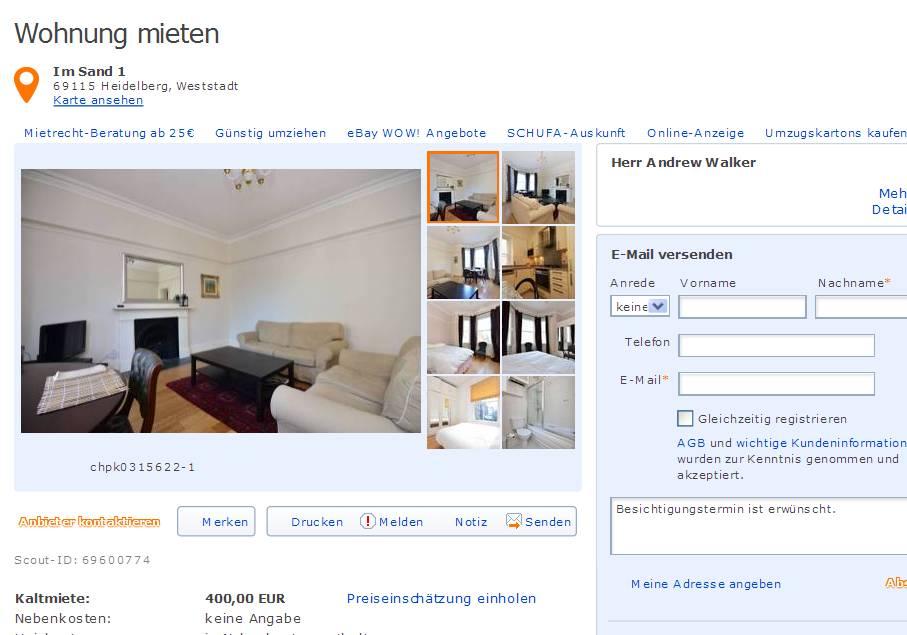 informationen ber wohnungsbetrug informations about rental scam seite 324. Black Bedroom Furniture Sets. Home Design Ideas