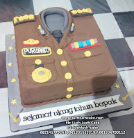 Kue Tart Baju Polisi Surabaya - Sidoarjo