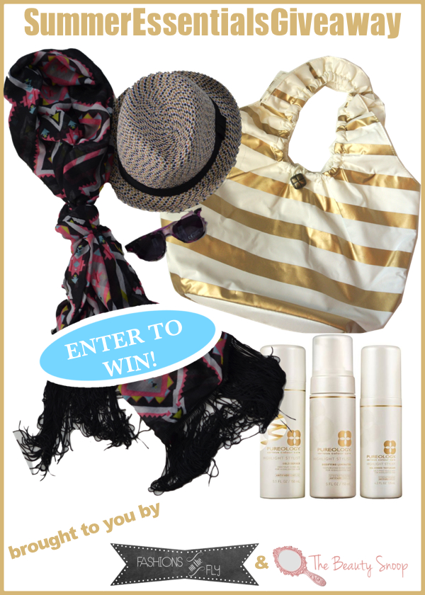 Pureology, giveaway, summer beach bag essentials
