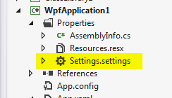WPF: How to save settings using a custom class