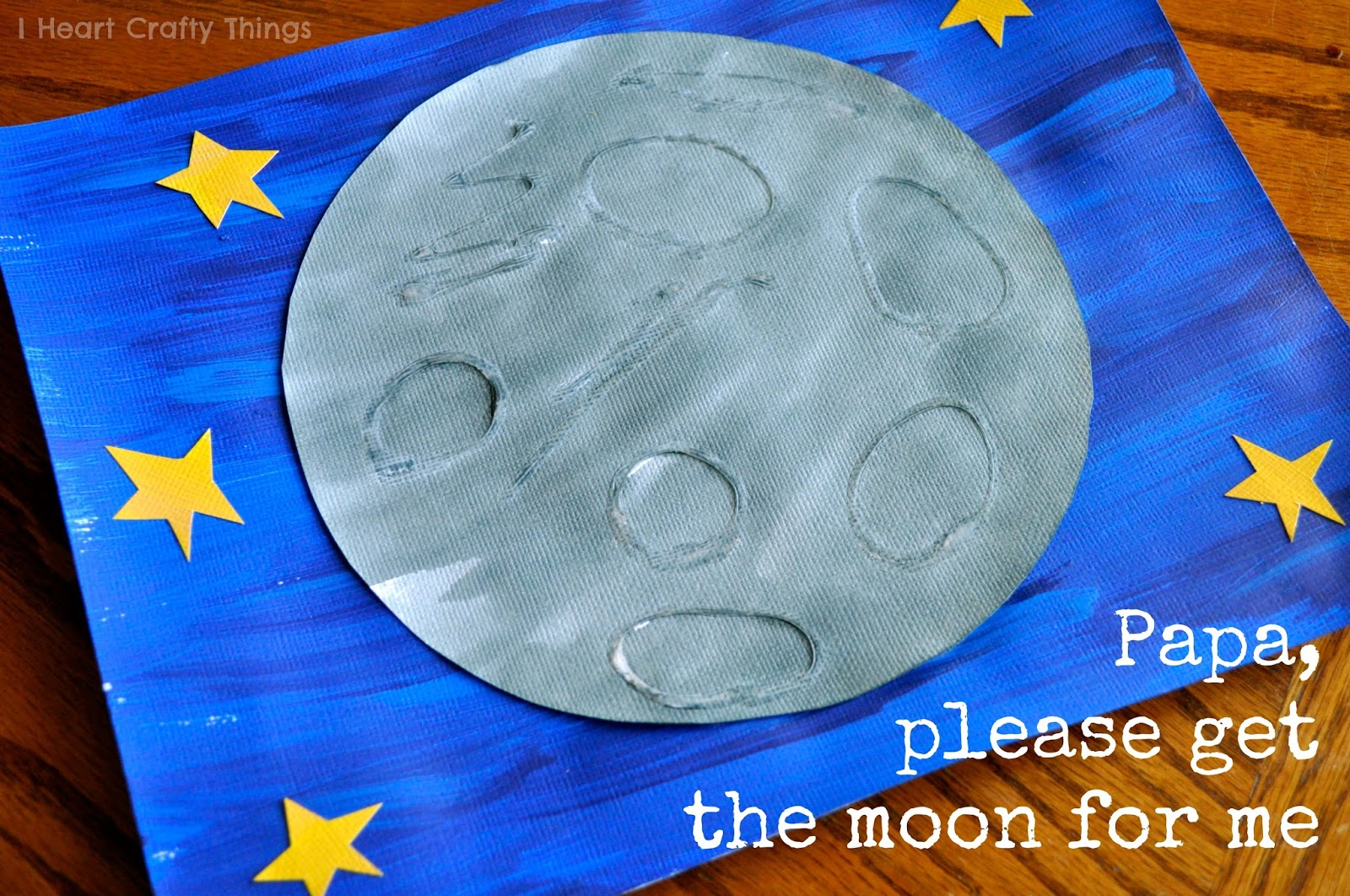 Eric Carle Inspired Moon Art Touch And Feel Textured Moon