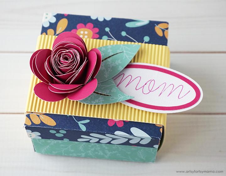DIY Flower-Topped Gift Box