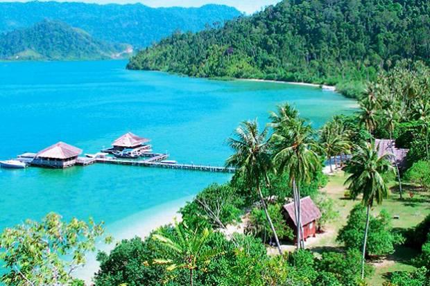 Provinsi Sumatera Barat dan berbatasan pribadi dari kota Padang Puncak Mandeh, Raja Ampat Sumatera Barat