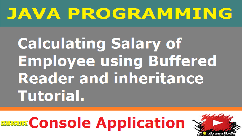 How to calculate salary of Employee using inheritance in java