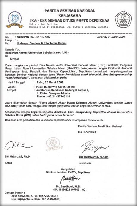 Contoh Surat Formal Surat Resmi Mbah Karno