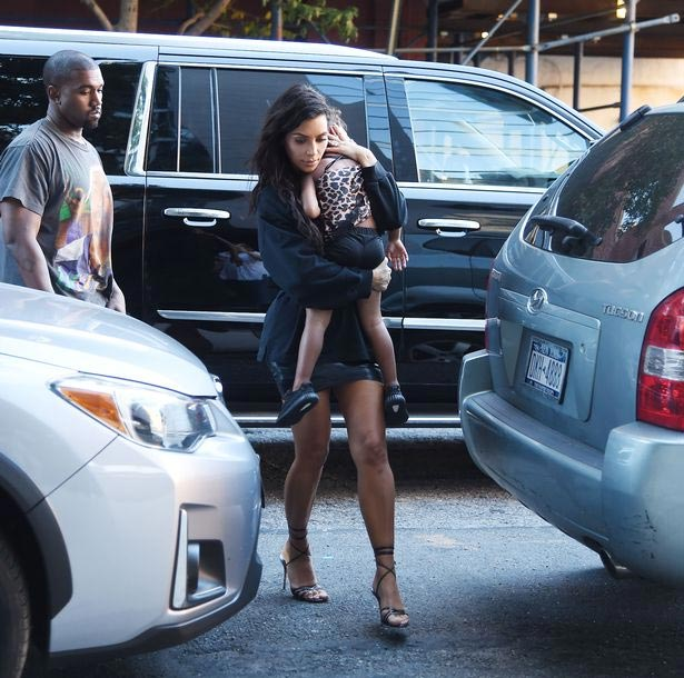 KimYe family steps out in New York after #VMAs