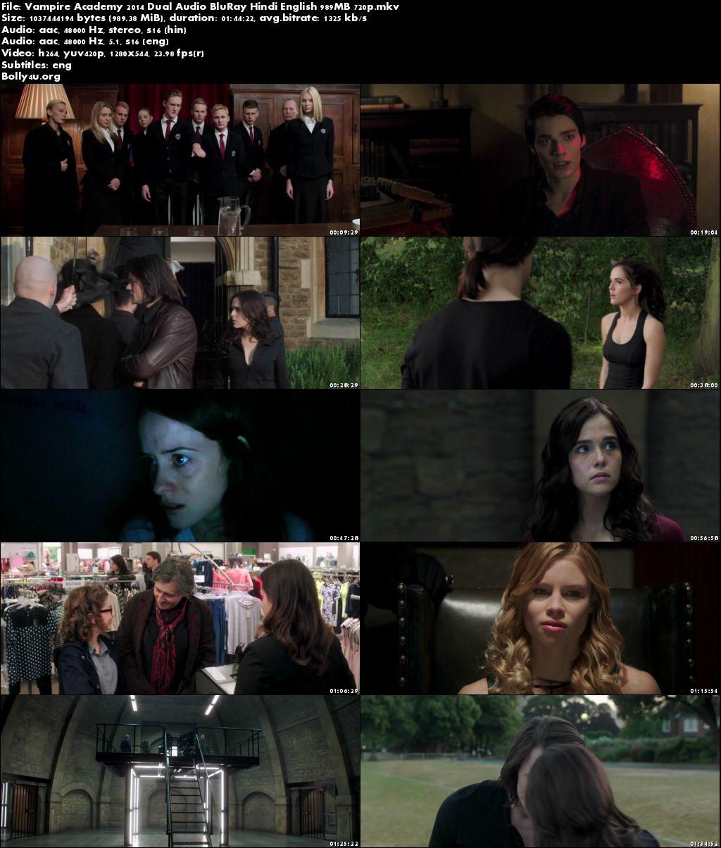 Vampire Academy 2014 BluRay 350MB Hindi Dual Audio 480p Download
