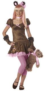 Mujer sexy disfraz de oso