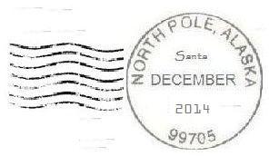2014 North Pole Postmark / North Pole Cancellation: 2014